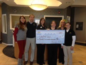 United Federal Credit Union Presents Check